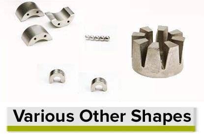 Various Permanent Magnet Shapes