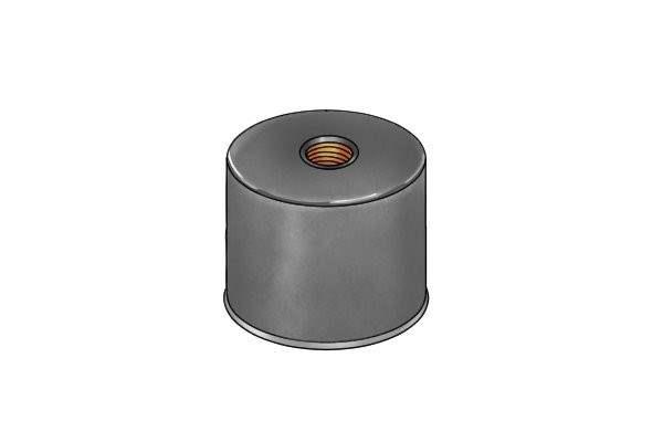 Deep internal threaded pot magnet