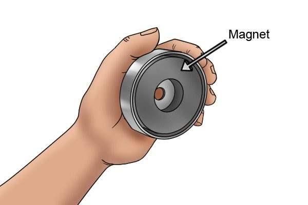 Magnet of a pot magnet