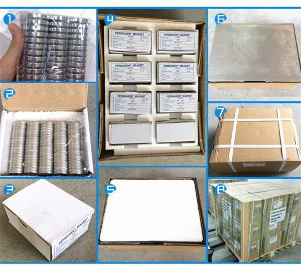 Packing of Strong Neodymium Cylinder Magnets