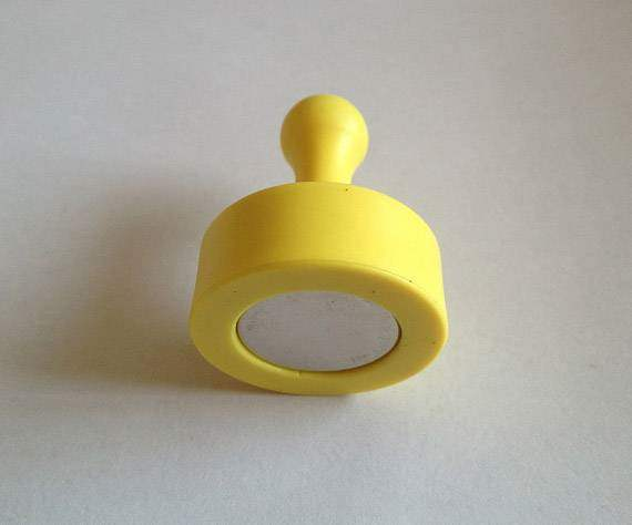 Yellow Magnetic Push Pins