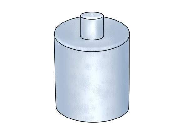 Plain stud pot magnet