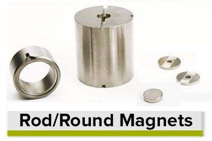 Rod Disk and Round Shaped Permanent Magnets