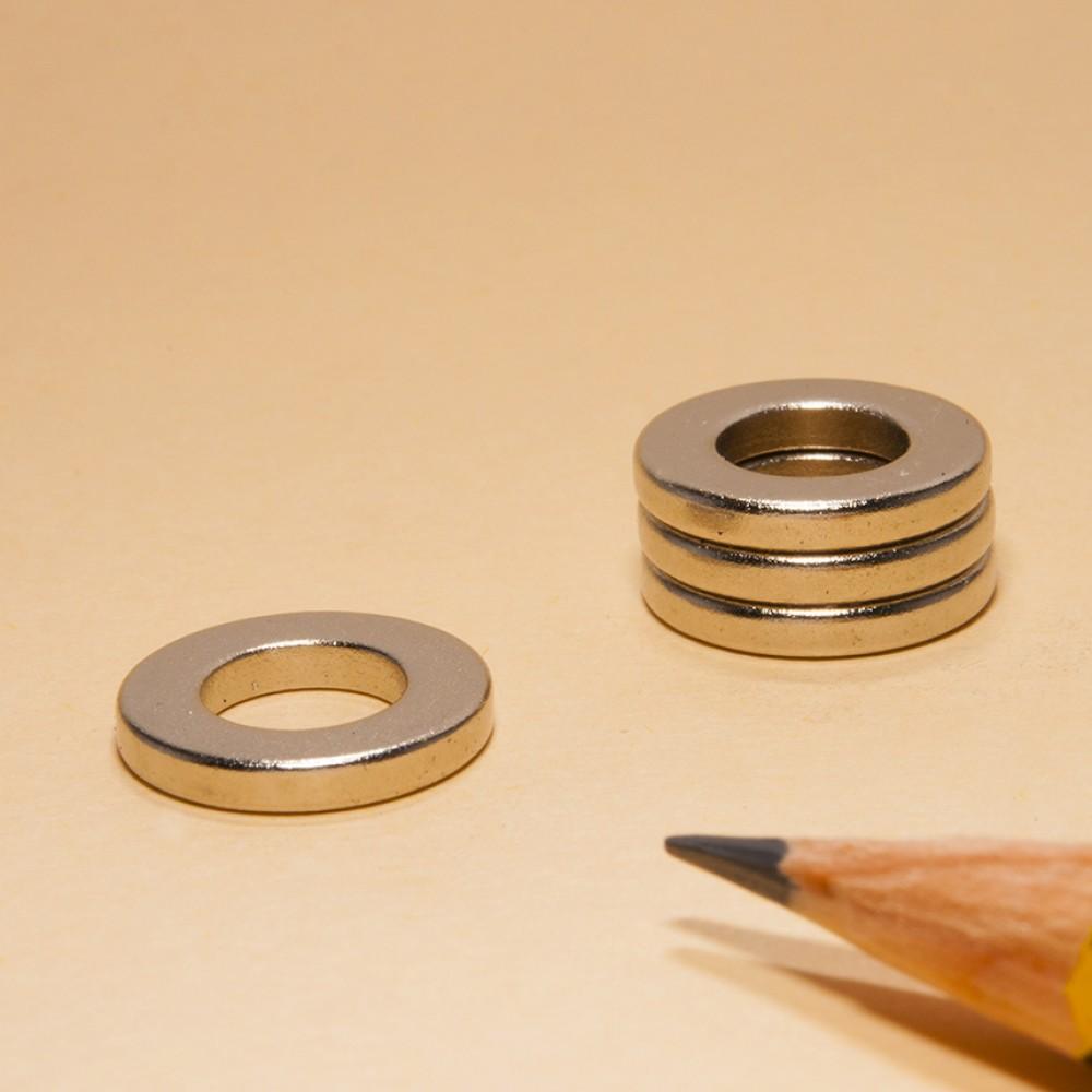 powerful Ring neodymium magnet N35 OD13xID7x2 - Neodymium Ring Magnets
