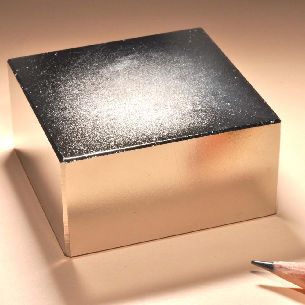 Strong Neodymium Rectangular Magnets N35 50X50X25 - Neodymium Block Magnets
