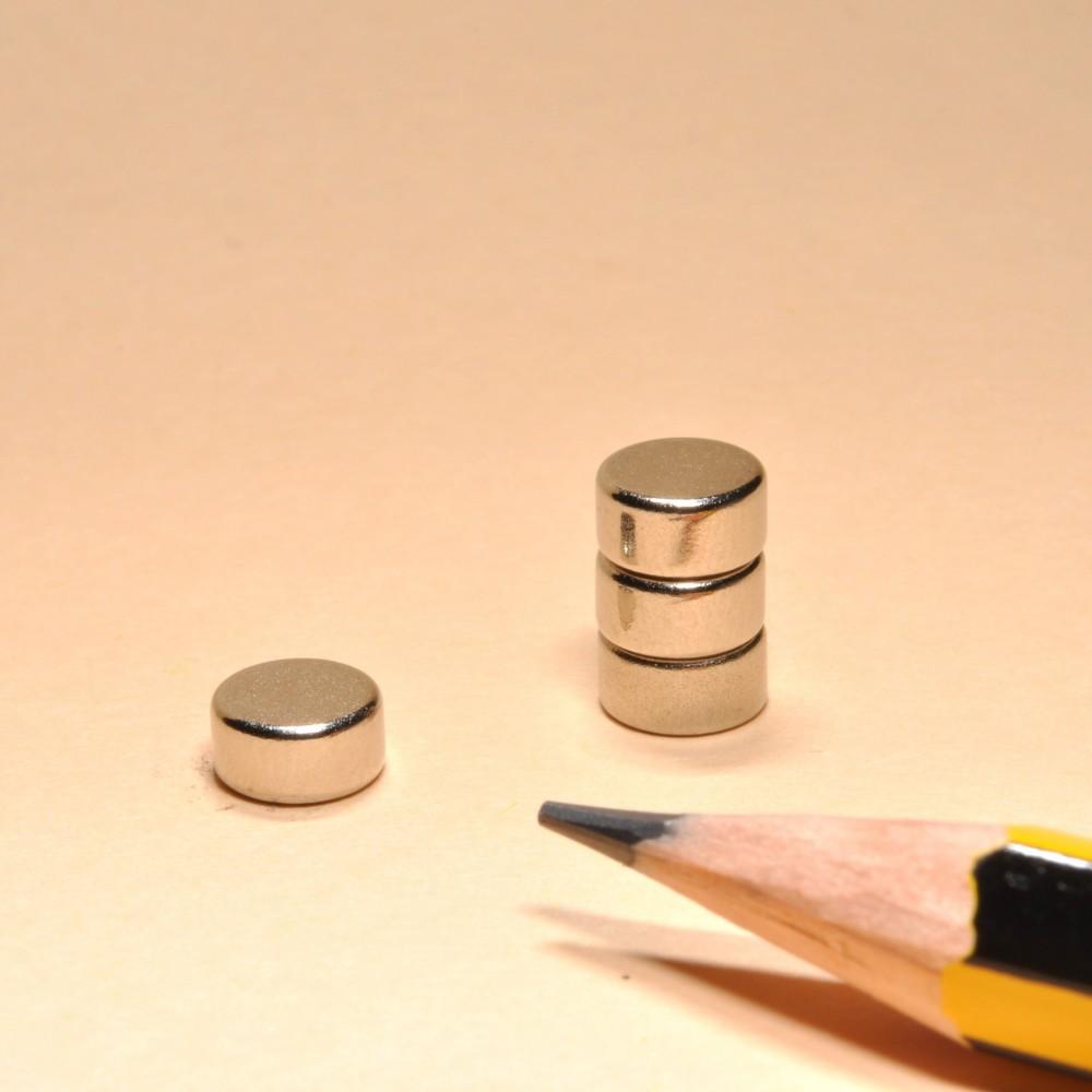 Neodymium Powerful Magnet Cylinder N35 D6X3 - Neodymium Disc Magnets