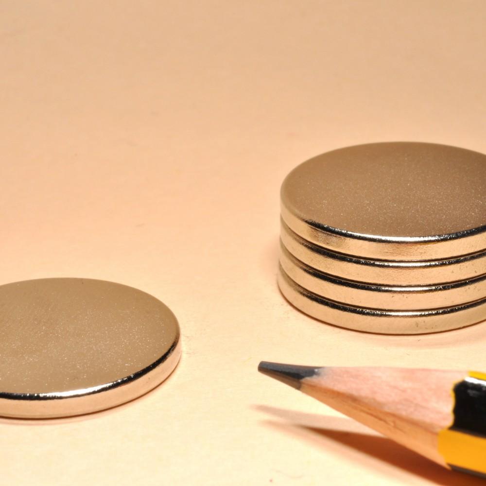 NdFeB Rare Earth Permanent Magnet Disc N35 D20x2 - Neodymium Disc Magnets