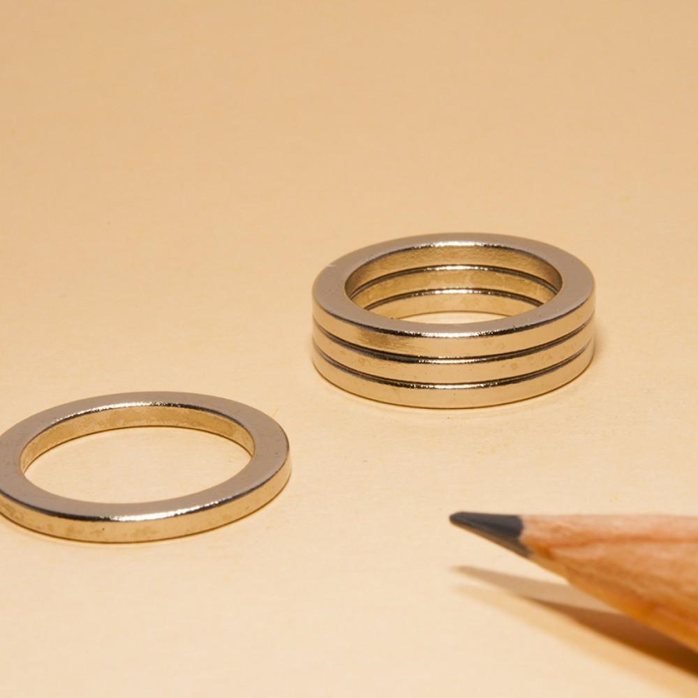 Ring Permanent Magnets N48 OD165xID125x15 - Neodymium Ring Magnets