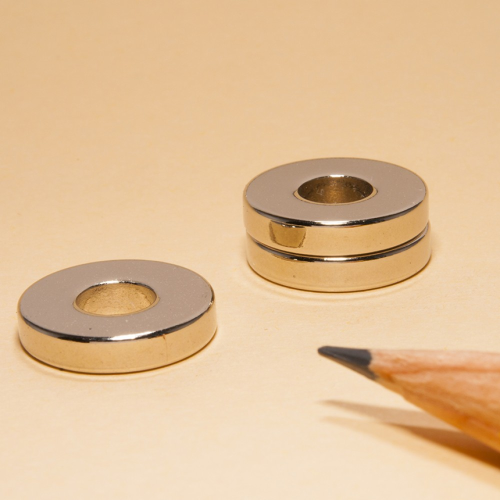 Neodymium NdFeB Ring Magnets N52 OD15xID6x3 - Neodymium Ring Magnets