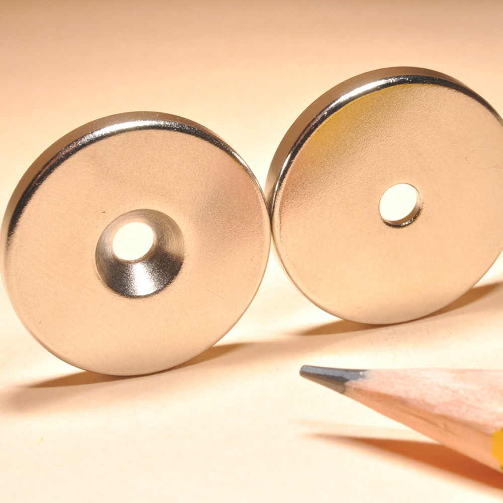 Countersunk Disc Rare Earth Magnet N35 - Neodymium Countersunk Magnets