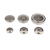 Neodymium Mounting Magnets with Straight Hole