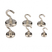 Neodymium Pot Magnets - Threaded Hook
