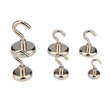 Neodymium Pot Magnets - Threaded Hook