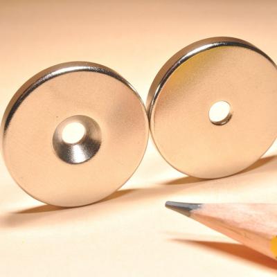 Countersunk Hole Neodymium Disc Magnets N48